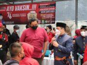 Diapresiasi Wali Kota, PDI Perjuangan Kota Tangerang Rayakan HUT RI ke- 76 Dengan Vaksinasi
