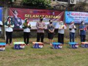 Kapolri Sambangi Vaksinasi 1.000 Buruh di Kabupaten Tangerang