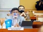 Menkominfo Raker Bersama Komisi I DPR RI,KPI Pusat, KIP Pusat, dan Dewan Pers terkait Pagu Anggaran Kementerian Kominfo T.A. 2022