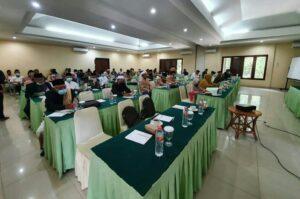 Kegiatan acara Musyawarah Daerah (Musda) Majlis Ulama Indonesia (MUI) X Kabupaten Pandeglang di Mutiara Resort Carita, Rabu (6/10/2021).