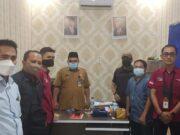 Organisasi Forum PPKH Kabupaten Lebak berkoordinasi dengan Kepala Dinas Sosial Kabupaten Lebak.
